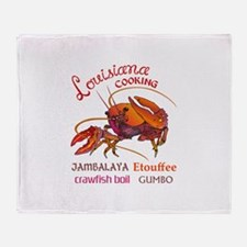LOUISIANA COOKING Throw Blanket