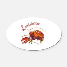 LOUISIANA CRAWDAD Oval Car Magnet