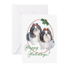 Shih Tzu Duo Holiday Cards (6)