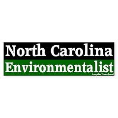 North Carolina Environmentalist Bumper Sticker