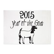 Year of the Goat Boer Goat 5'x7'Area Rug