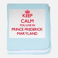 Keep calm you live in Prince Frederic baby blanket