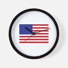 MINI AMERICAN FLAG Wall Clock
