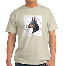 Doberman Pinscher Cameo Ash Grey T-Shirt