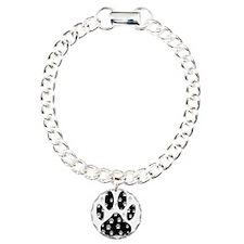 White Paws All Over Blac Bracelet
