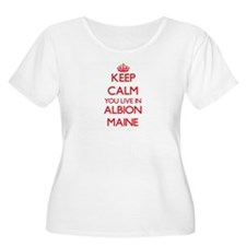 Keep calm you live in Albion Mai Plus Size T-Shirt