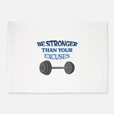 BE STRONGER 5'x7'Area Rug