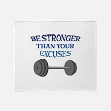 BE STRONGER Throw Blanket