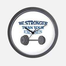 BE STRONGER Wall Clock