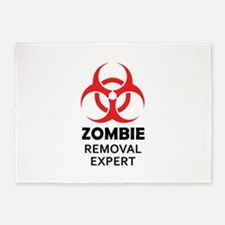 ZOMBIE REMOVAL EXPERT 5'x7'Area Rug
