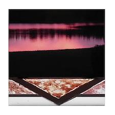 Florida Sunset Mural Tile #2- Tile Coaster