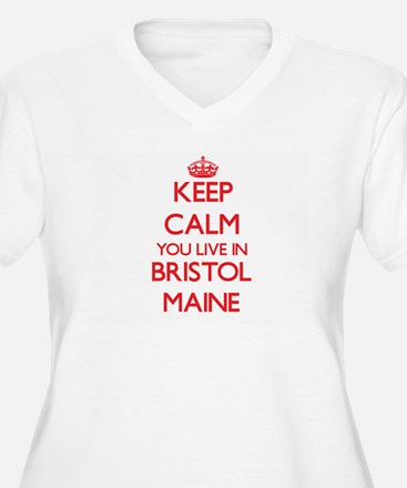 Keep calm you live in Bristol Ma Plus Size T-Shirt