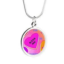 Valentine's Day by Janice W Silver Round Necklace