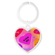 Valentine's Day by Janice W Heart Keychain