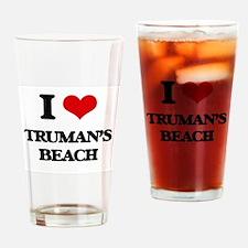 I Love Truman'S Beach Drinking Glass