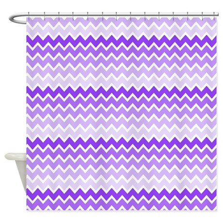 Purple ombre chevron shower curtain by listing store 125731732 for Purple ombre shower curtain