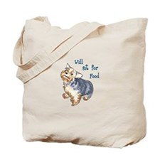 WILL SIT FOR FOOD Tote Bag