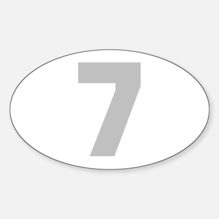 SILVER #7 Decal