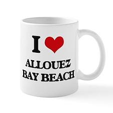 I Love Allouez Bay Beach Mugs
