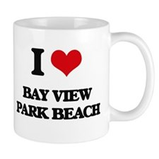 I Love Bay View Park Beach Mugs