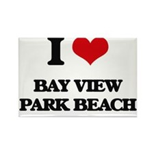 I Love Bay View Park Beach Magnets