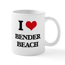 I Love Bender Beach Mugs