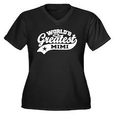 World's Grea Women's Plus Size V-Neck Dark T-Shirt