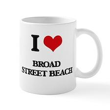 I Love Broad Street Beach Mugs