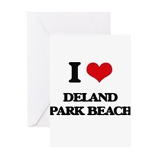 I Love Deland Park Beach Greeting Cards