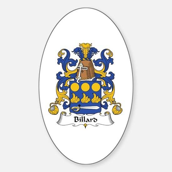 Billard Oval Decal