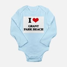 I Love Grant Park Beach Body Suit