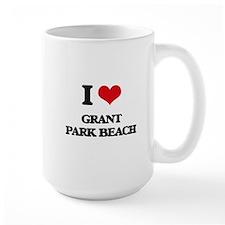 I Love Grant Park Beach Mugs