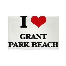 I Love Grant Park Beach Magnets