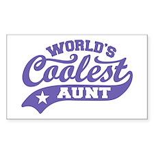 World's Coolest Aunt Decal