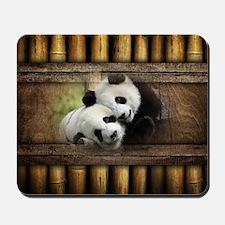 Panda Bear Love Mousepad