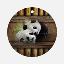 Panda Bear Love Ornament (Round)