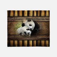 Panda Bear Love Throw Blanket