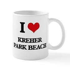 I Love Kreher Park Beach Mugs