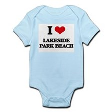 I Love Lakeside Park Beach Body Suit