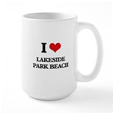 I Love Lakeside Park Beach Mugs