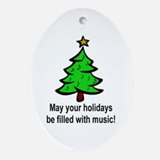 Musical Christmas Holiday Oval Ornament