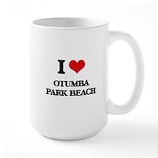 I Love Otumba Park Beach Mugs