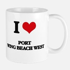 I Love Port Wing Beach West Mugs