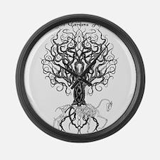 Celtic Tree Horse Large Wall Clock