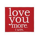 I love you more i win Fleece Blankets