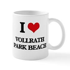I Love Vollrath Park Beach Mugs