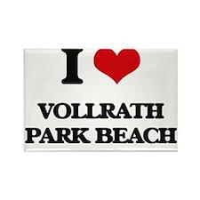 I Love Vollrath Park Beach Magnets