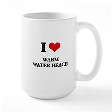 I Love Warm Water Beach Mugs