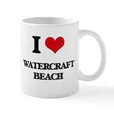 I Love Watercraft Beach Mugs