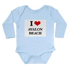 I Love Avalon Beach Body Suit